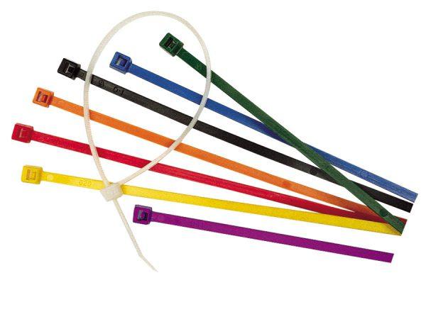 Разноцветные кабельные стяжки