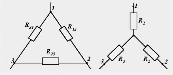 Треугольник и звезда соединений