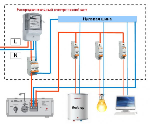 Схема подключения однофазного стабилизатора