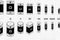Типы батареек