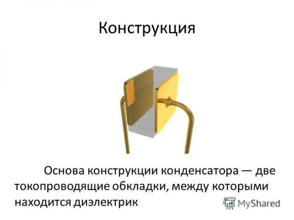 Самая простая конструкция конденсатора