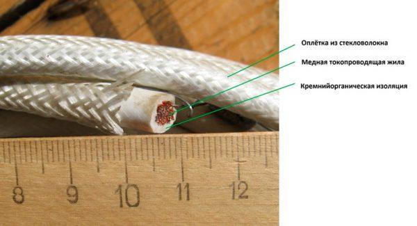 Строение провода РКГМ