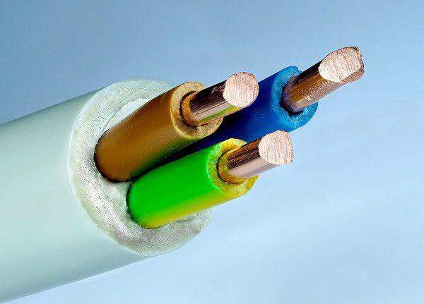 Внутреннее строение кабеля КГ