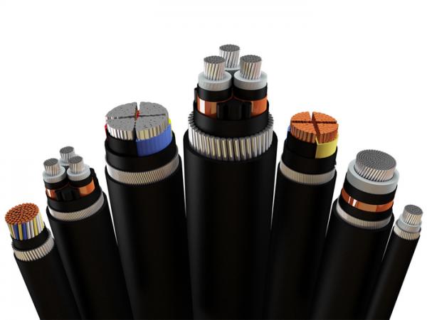 Разнообразные по конструкции силовые электрокабеля